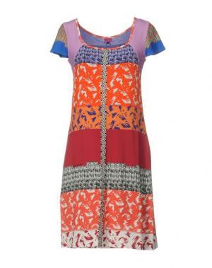 Короткое платье SAVE THE QUEEN. Цвет: красный