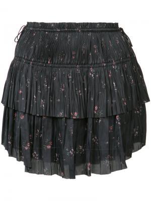 Плиссированная мини-юбка Ulla Johnson. Цвет: чёрный