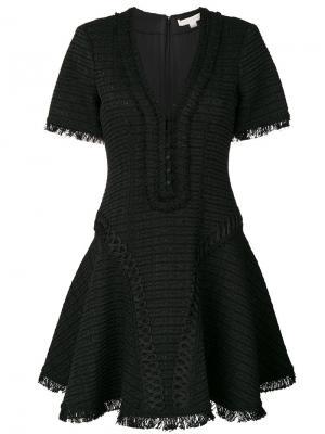 Расклешенное платье с V-образным вырезом Jonathan Simkhai. Цвет: чёрный