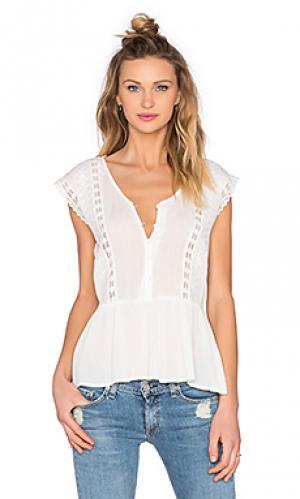 Блуза с разрезом сбоку Bishop + Young. Цвет: ivory