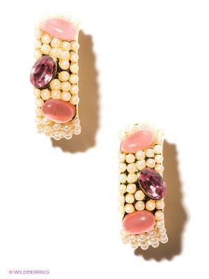 Серьги Bijoux Land. Цвет: кремовый, бледно-розовый, золотистый