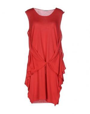 Короткое платье KANGRA CASHMERE. Цвет: коралловый