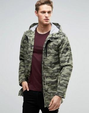 Parka London Камуфляжная куртка Aren. Цвет: зеленый