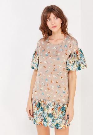 Платье Glam Goddess. Цвет: бежевый