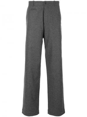 Широкие брюки YMC. Цвет: серый