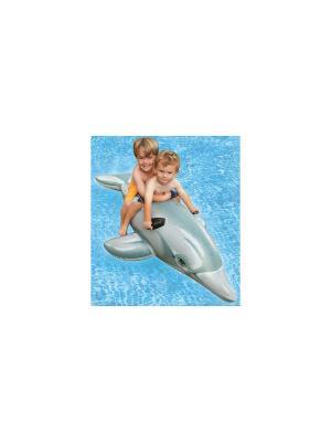 Надувная игрушка дельфин с держ.175х66см от 3лет Intex. Цвет: белый