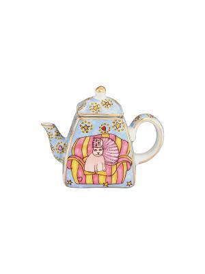 Сувенир-чайник Коты на кресле Elan Gallery. Цвет: голубой, розовый, желтый