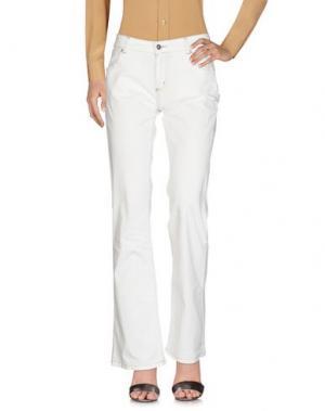 Повседневные брюки HENRY COTTON'S. Цвет: белый