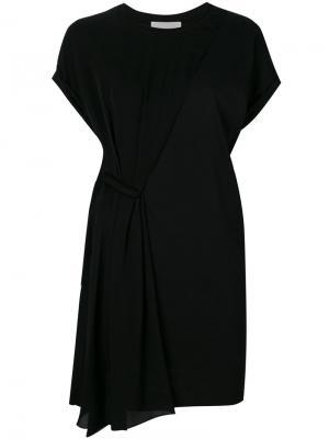 Асимметричное платье-шифт 3.1 Phillip Lim. Цвет: чёрный