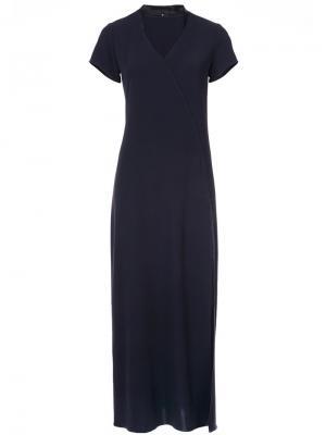 Платье с V-образным вырезом Peter Cohen. Цвет: синий