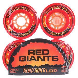 Колеса для скейтборда лонгборда  Red Giants 80A 76 mm Road Rider. Цвет: красный