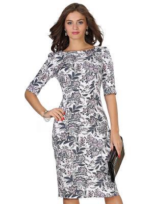 Платье OLIVEGREY. Цвет: молочный, серый, бежевый