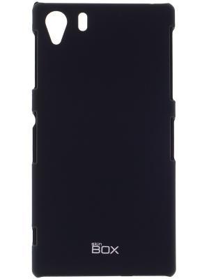 Накладка для Sony i1 skinBOX. Серия 4People. Защитная пленка в комплекте. skinBOX. Цвет: черный