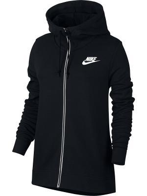 Толстовка W NSW AV15 HOODIE FZ Nike. Цвет: черный