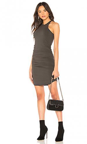Платье миди kravitz LA Made. Цвет: черный