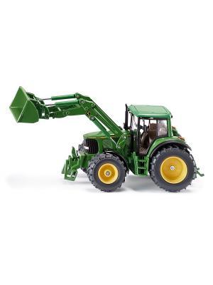 Трактор Джон Дир с ковшом, зел. (1:32) SIKU. Цвет: черный, зеленый