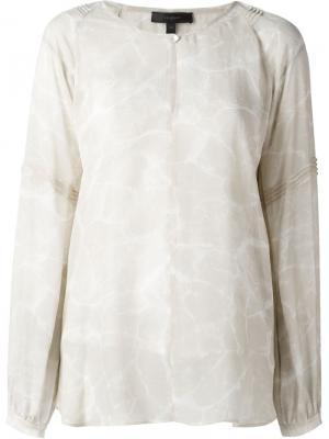 Прозрачная блузка Belstaff. Цвет: телесный
