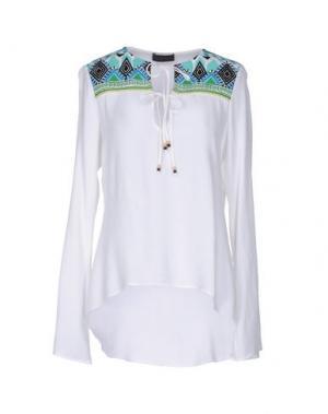 Блузка HALE BOB. Цвет: белый