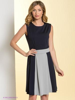 Платье La Fleuriss. Цвет: темно-синий, серый