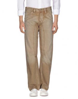 Джинсовые брюки FIRETRAP. Цвет: верблюжий