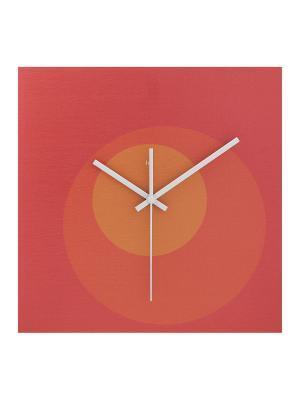 Часы настенные Стиль HOLSTART. Цвет: красный