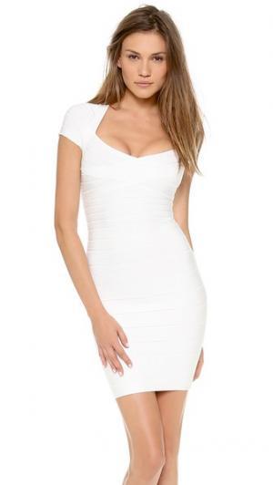 Платье Raquel Herve Leger. Цвет: алебастровый