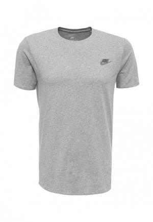 Футболка Nike. Цвет: серый