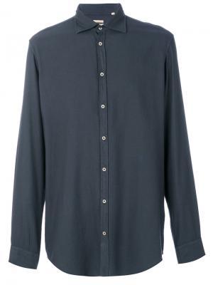 Классическая рубашка Massimo Alba. Цвет: серый