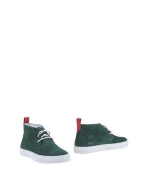 Полусапоги и высокие ботинки DEL TORO. Цвет: темно-зеленый