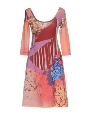 Короткое платье SAVE THE QUEEN. Цвет: лососево-розовый