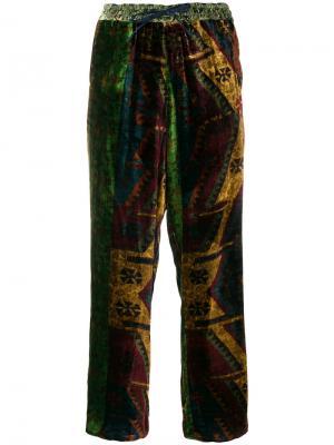 Широкие брюки Pierre-Louis Mascia. Цвет: многоцветный