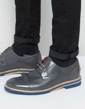 Ted Baker Серые кожаные туфли-дерби Braythe 2. Цвет: серый