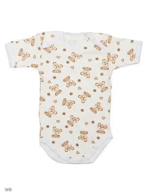 Боди Babycollection. Цвет: молочный, коричневый