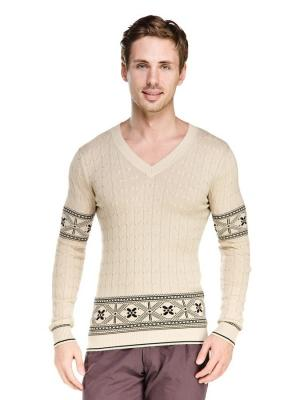 Пуловер VipDressCode. Цвет: бежевый