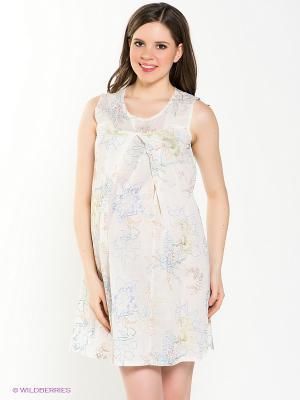 Ночная сорочка для беременных и кормления 40 недель 1010/2/молочный
