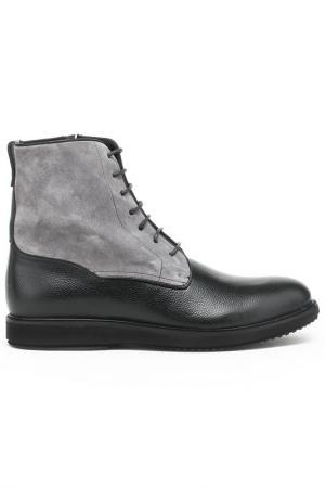 Ботинки DERIMOD. Цвет: черно-серый