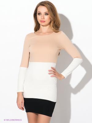 Платье AX Paris. Цвет: бежевый, белый, черный