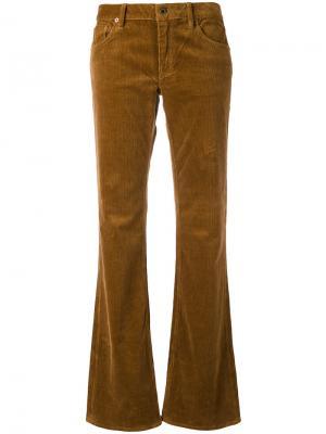 Расклешенные вельветовые брюки Ralph Lauren. Цвет: коричневый