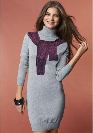 Платье Y.O.U.. Цвет: серый