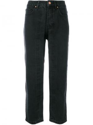 Укороченные расклешенные брюки Aalto. Цвет: чёрный