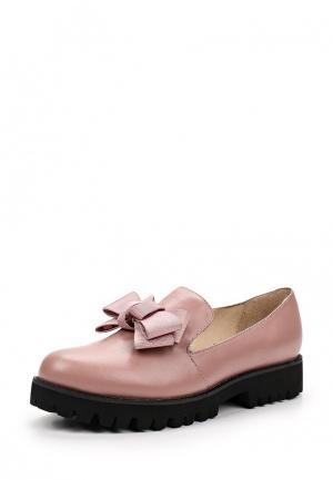 Лоферы Portal. Цвет: розовый