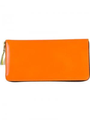 Кошелек New Super Fluo Comme Des Garçons Wallet. Цвет: жёлтый и оранжевый