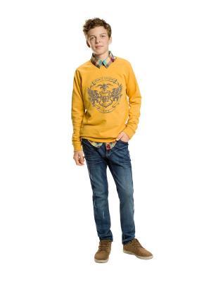 Свитшот PELICAN. Цвет: желтый