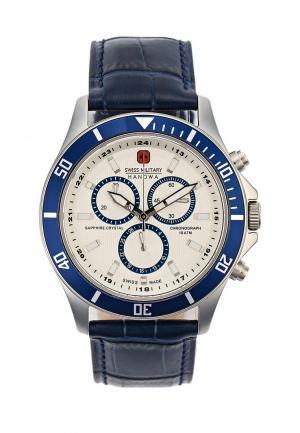 Часы Swiss Military. Цвет: синий
