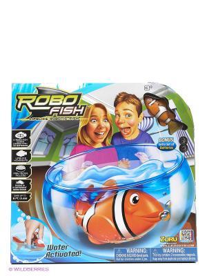 РобоРыбка Клоун  с аквариумом ZURU. Цвет: прозрачный, желтый