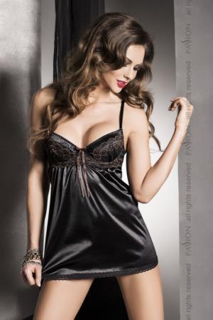 женщины в атласном черном нижнем белье частное фото