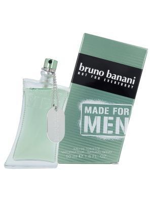 Туалетная вода Bruno Banani Made For Men 50 мл (новая упаковка). Цвет: прозрачный