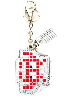 Брелок Space Invader Anya Hindmarch. Цвет: металлический