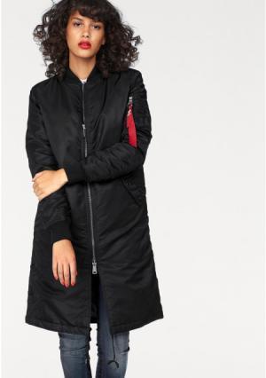 Куртка MA-1 Coat Wmn ALPHA. Цвет: оливково-зеленый, черный