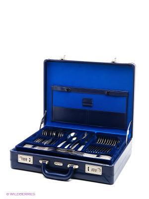 Столовые приборы Stella matt 72 пр. BergHOFF. Цвет: серебристый, синий